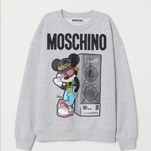 Moschino x HM gray sweatshirt
